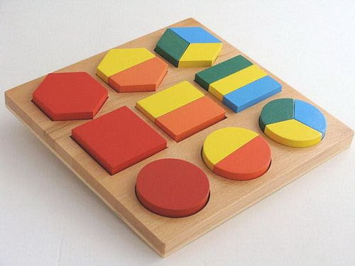 Geometric Shapes Fraction Puzzle - Geometric Shapes Fraction Puzzle