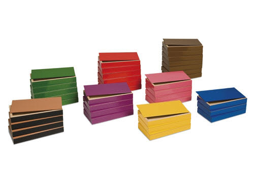 Grammar Filling Boxes Set (36 Traditional Coloured Boxes) - Grammar Filling Boxes