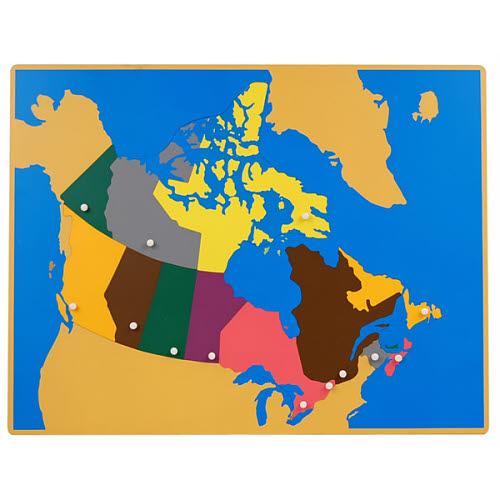 Puzzle map of Canada - Puzzle map of Canada