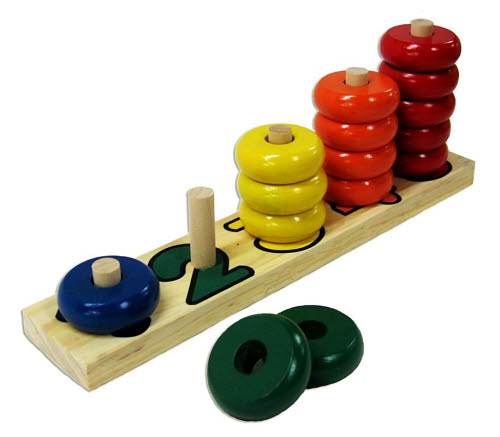 Stacking 1-5 Rings Puzzle - small - Stacking 1-5 Rings Puzzle