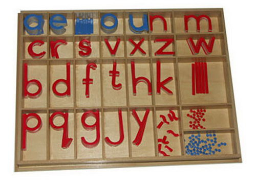 Movable Alphabet Large Print Red C Blue V (No Box) - Movable Alphabet Large Print Red C Blue V (No Box)