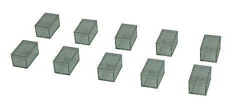Clear Plastic Containers (10 Pc set) - Acrylic Box (10 Pcs) Each 59X41X35mm