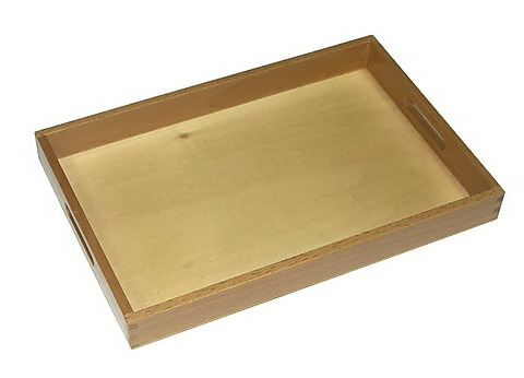 Wooden Box Tray w/cutout Handles - Small - Wooden Box Tray w/cut out Handles - Small