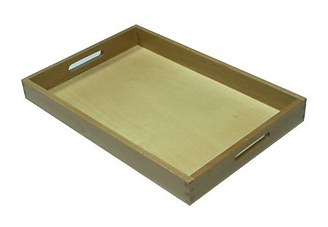 Wooden Box Tray w/cutout Handles - Medium - Wooden Box Tray w/cutout Handles - Medium