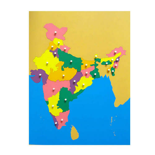 Puzzle map of India -