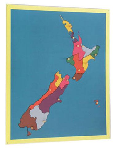 Puzzle map of New Zealand - Puzzle map of New Zealand