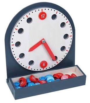 Clock with Movable Numbers and hands - Clock with Movable Numbers and hands