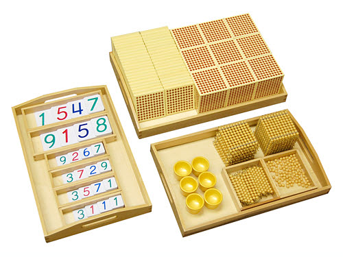 Golden Bead Material, Individual/Plastic Cards - Golden Bead Material, Individual/Plastic Cards