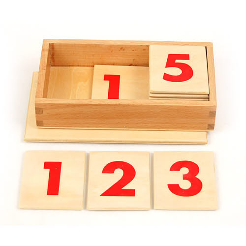 Printed Numbers for the Number Rods -