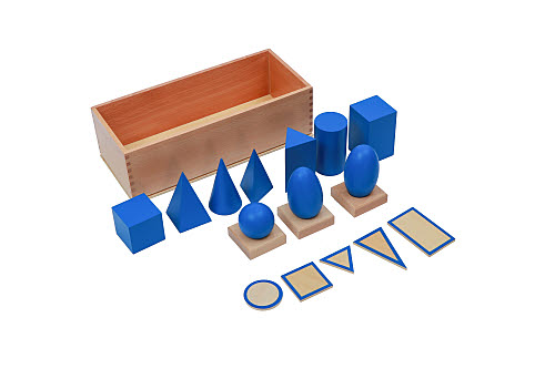 Geometric Solids with bases and 3 stands and storage box - Geometric Solids with bases and 3 stands and storage box