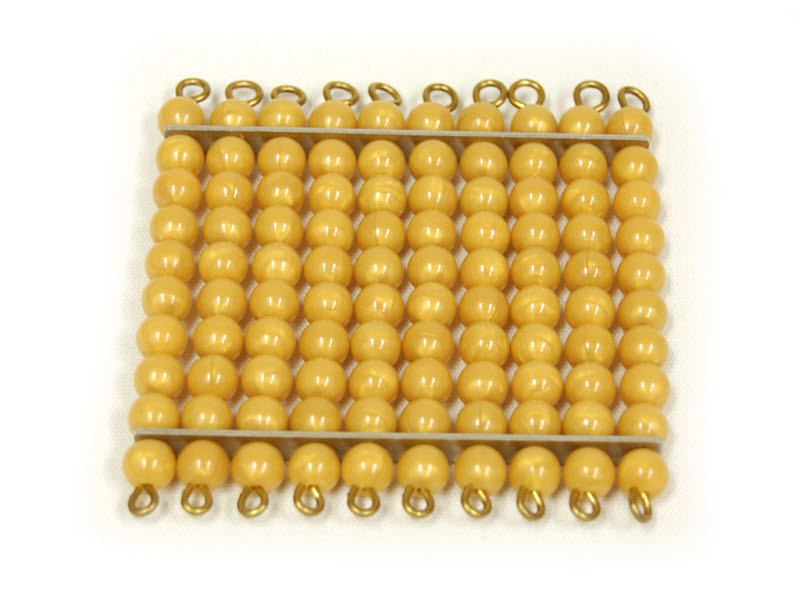 Golden Bead Square Of 100, Individual Beads -