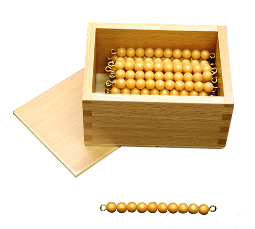 Golden Bead Bars, Individual Beads, 45 Bars with Box - Golden Bead Bars, Individual Beads, 45 Bars with Box