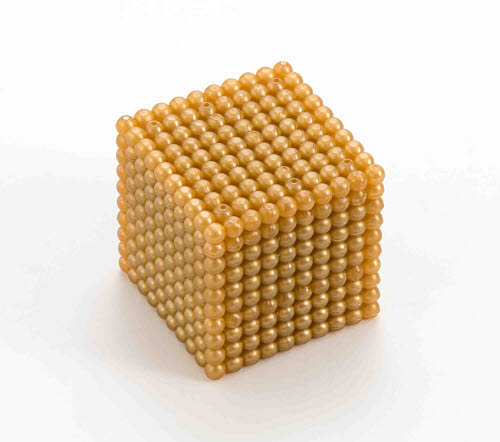 Golden Bead Cube of 1000 , Connected Beads - Golden Bead Cube of 1000 , Connected Beads