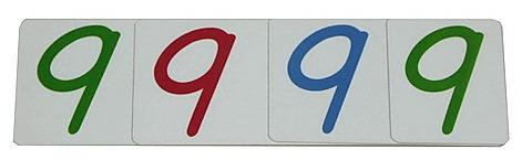 Large Number Cards 1-9000, Plastic - Large Number Cards 1-9000, Plastic