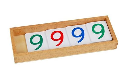 Large Number Cards 1-9000, Plastic -