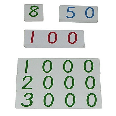 Small Number Cards 1-3000, Plastic - Small Number Cards 1-3000, Plastic