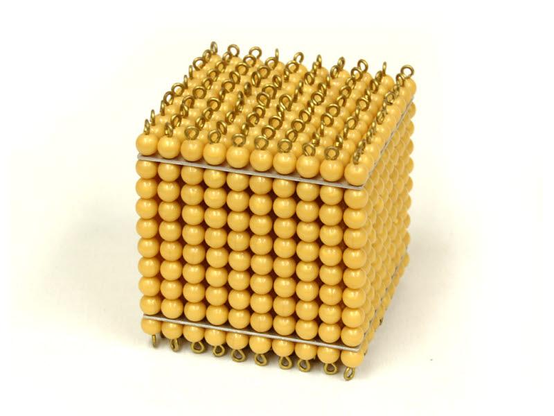 Golden Bead Cube of 1000 , Individual Beads - Golden Bead Cube of 1000 , Individual Beads