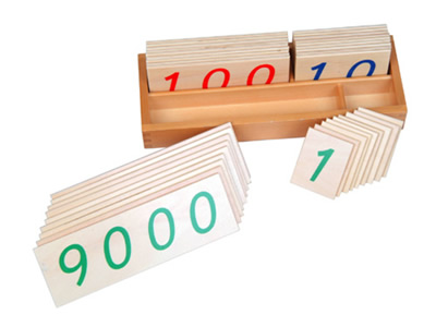 Large Number Cards 1-9000, Wood -
