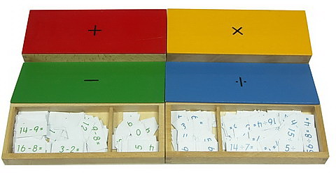 Subtraction Equations and Differences Box - Addition Equations and Sums Box - Wood