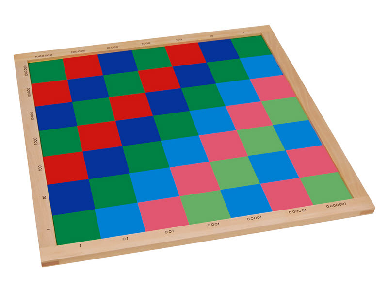 Decimal Checker Board - Square - Montessori Decimal Checker Board