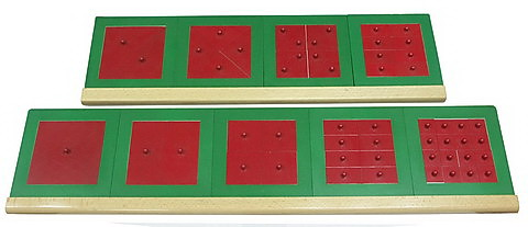 Metal Fraction Squares (Green & Red) -