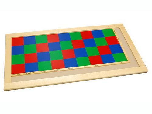 Checker Board - Rectangle - Montessori Checker Board