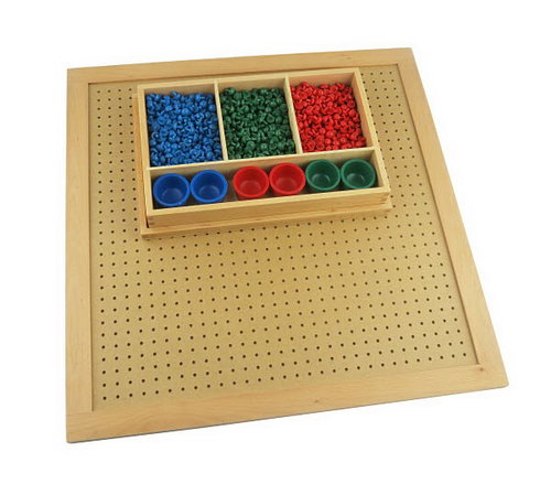 Square Root Pegs and Board -