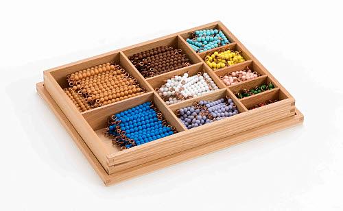 Multiplication Bead Bar Box, Individual Beads - Montessori Multiplication Bead Bar Box, Individual Beads