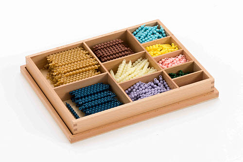 Multiplication Bead Bar Box, Connected Beads - Montessori Multiplication Bead Bar Box, Connected Beads