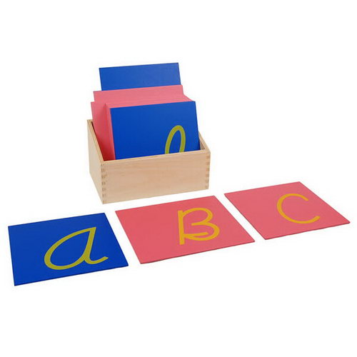Sandpaper Letters Capital Cursive Tiles in Box - Sandpaper Letters Capital Cursive Tiles (w/box)
