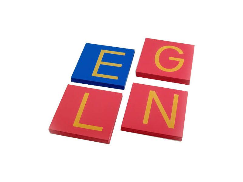 Sandpaper Letters - Uppercase Print Tiles - Sandpaper Letters - Uppercase Print Tiles
