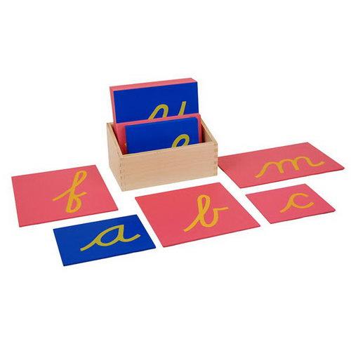 Sandpaper Letters - Cursive - Blue V Pink C - Sandpaper Letters - Cursive - Blue V Pink C