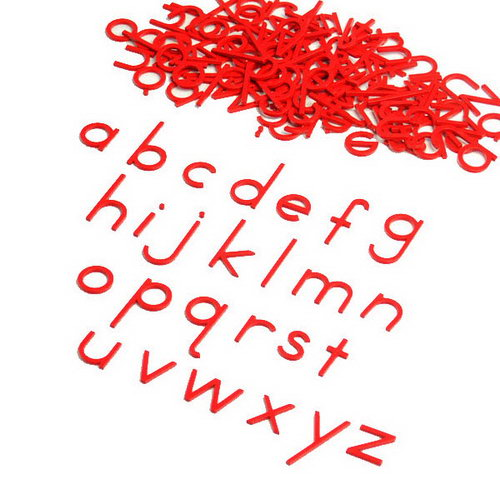 Movable Alphabet - Small Print Red -