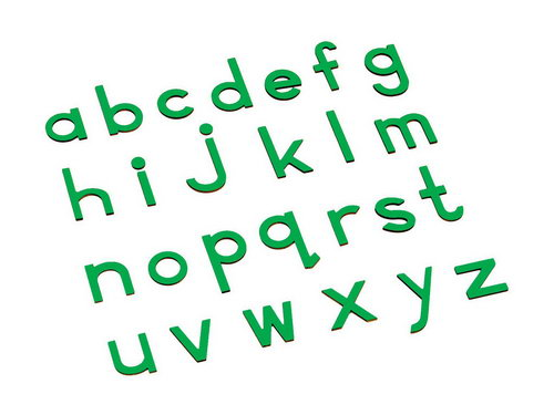 Movable Alphabet - Small Print Green - Movable Alphabet - Small Print Green