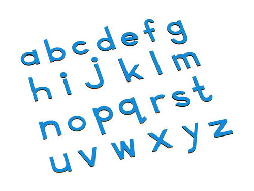 Movable Alphabet - Small Print Blue - Movable Alphabet - Small Print Blue
