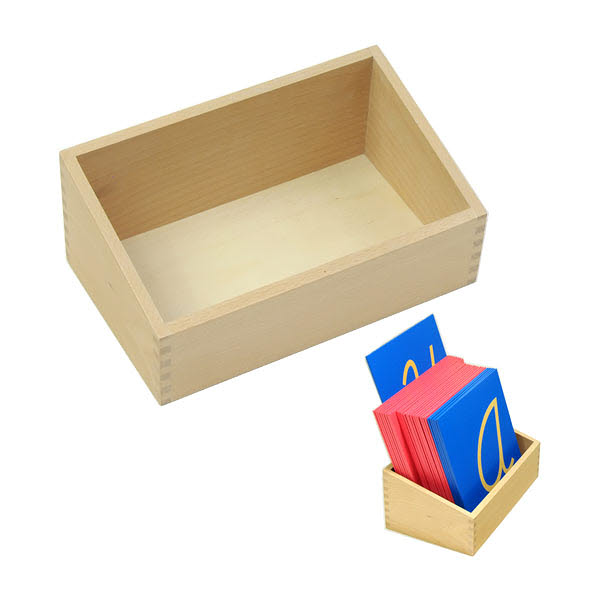 Sandpaper Letters Box for Cursive or Print - Sandpaper Letters Box for Cursive or Print