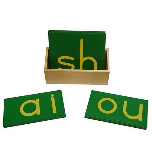 Sandpaper Double Letters - Lower Case Print - Sandpaper Double Letters - Lower Case Print