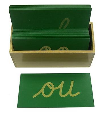 Sandpaper Double Letters - Cursive - Montessori Sandpaper Double Letters - Cursive