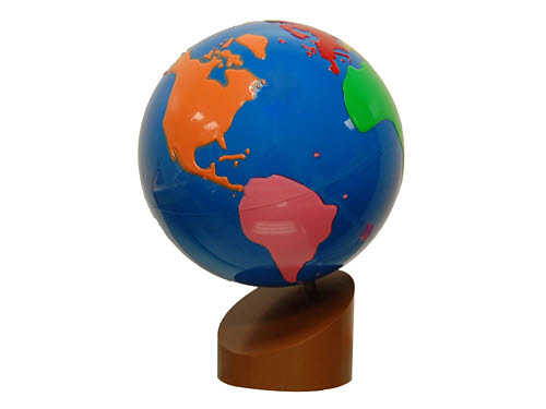 Globe Of World Parts (Coloured) Standard Quality - Globe Of World Parts (Coloured)