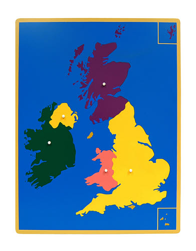 Puzzle Map Of UK -