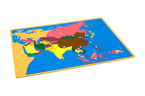 Puzzle Map Of Asia - Puzzle Map Of Asia