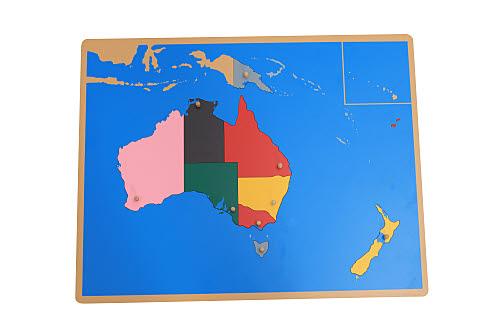 Puzzle Map Of Australasia - Puzzle Map Of Australasia