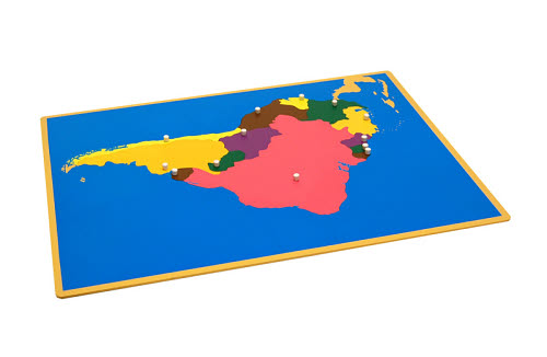Puzzle Map Of South America - Puzzle Map Of South America