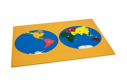 Puzzle Map Of The World Parts (Occident) - Puzzle Map Of The World Parts (Occident)