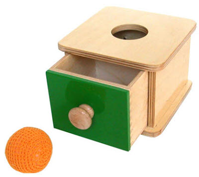Toddler Imbucare Box w/ Knitted Ball - Toddler Imbucare Box w/ Knitted Ball