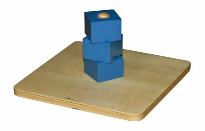 Cube On Vertical Dowel - Cube On Vertical Dowel