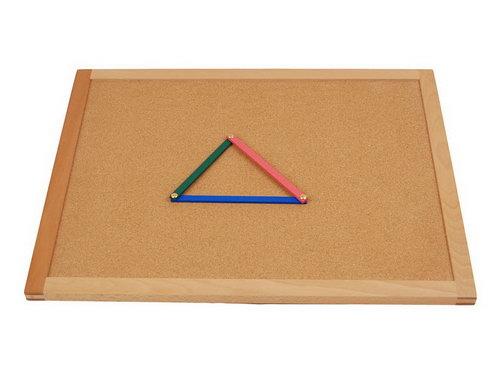 Cork Board for Geometric Sticks - Beechwood - Cork Board for Geometric Sticks - Beechwood