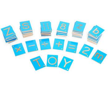 Grooved Letter & Number Print Tiles - Grooved Letter & Number Print Tiles