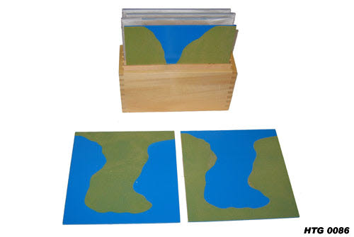 Land & Water Sandpaper Wooden Tablets - Land & Water Sandpaper Wooden Tablets