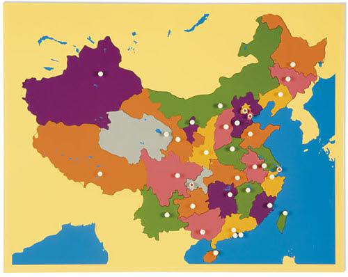 Puzzle Map of China - Puzzle Map of China